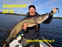 Pike fishing on Lake Saimaa