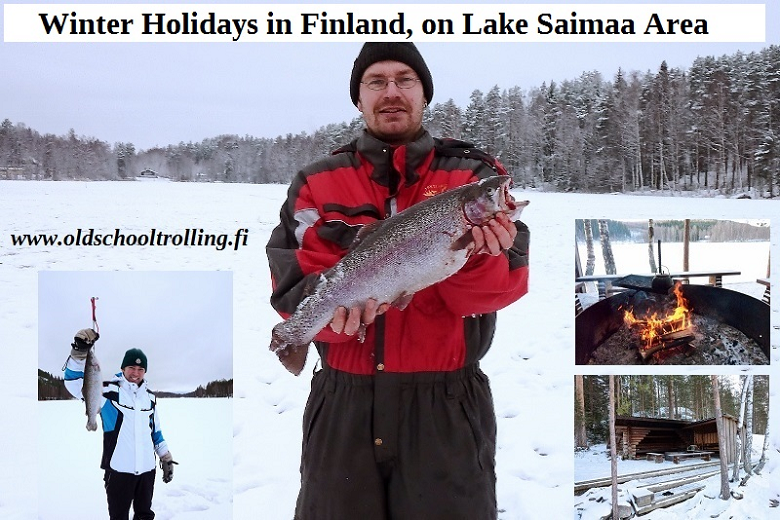 Winter Fishing Holiday and Cottage Accommodation on Lake Saimaa, Finland